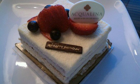 Acqualina Resort & Spa on the Beach: Birthday gift from the hotel manager :)