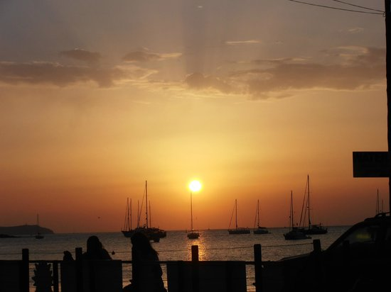 Intertur Hotel Hawaii Ibiza: sunset from the funky lizzard