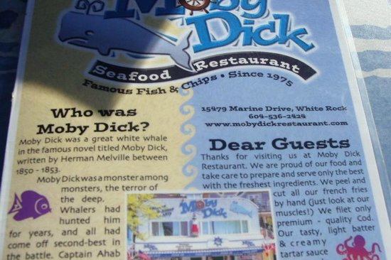 Moby Dick Restaurant : Moby Dick menu and address