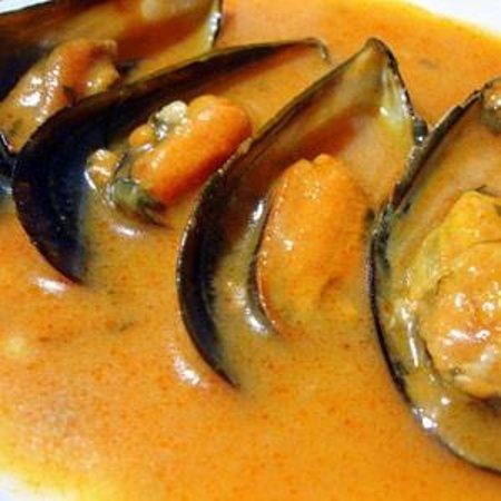 Restaurante Ciro´s: Mejillones con salsa azafrán