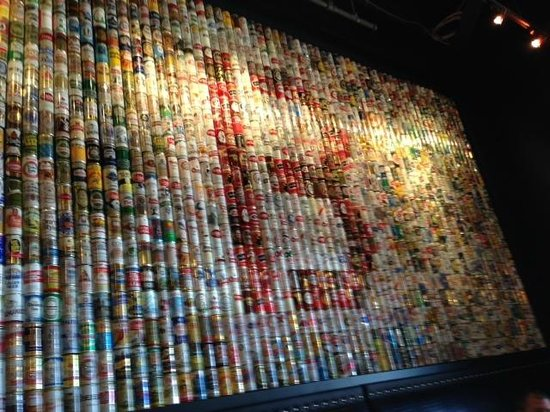 Beer Can Art Display Picture Of B Spot Burgers Woodmere