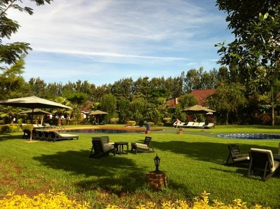Ngorongoro Wildlife Lodge: beautiful and well landscaped grounds with a gorgeous pool