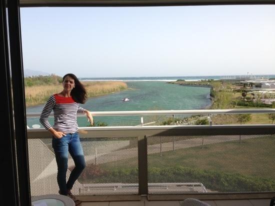 Hilton Dalaman Sarigerme Resort & Spa: view of sea & estuary from balcony