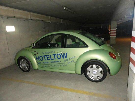 Hoteltow: originelle Werbung