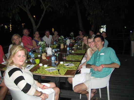 Citron Restaurante: Dinner on the terrace