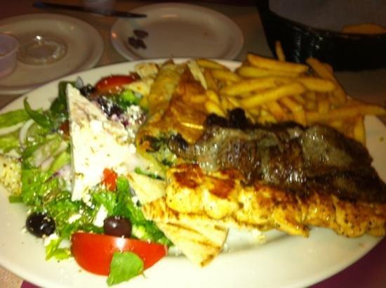 City Cafe Diner: combination Greek Platter 14.95