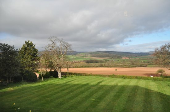 Cedar House: view from the bedroom window