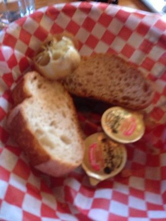 Spago Ristorante Italiano : Italian bread with roasted garlic