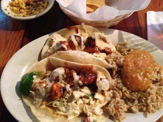 Cabo Fish Taco: BBQ Mahi Tacos with Baja rice