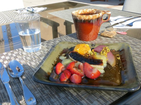 "The INN at Europa Village: The first course of our ""french themed"" breakfast"
