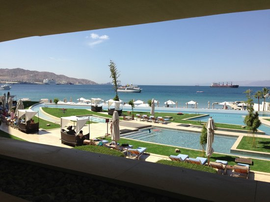Kempinski Hotel Aqaba Red Sea: Breakfast view