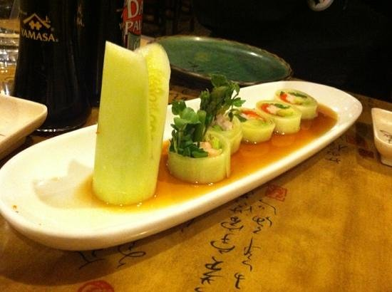 Wasabi Japanese Restaurant: the bonsai tree appetizer