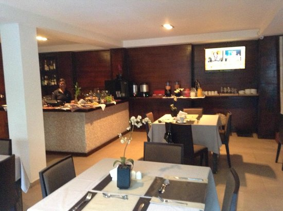 The Panams: Breakfast suite with flat screen TV