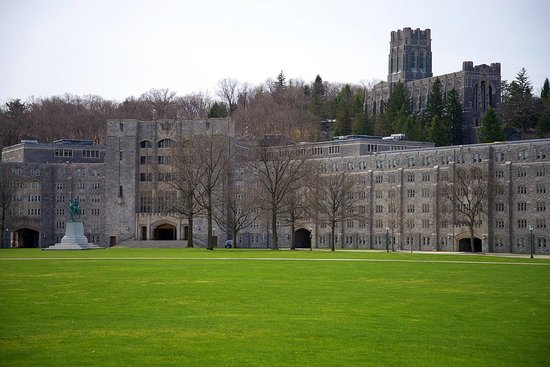 West Point Tours: Parade Ground and Dorms, Cadet Chapel on Hill
