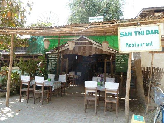 Outdoor seating at San Thi Dar Restaurant