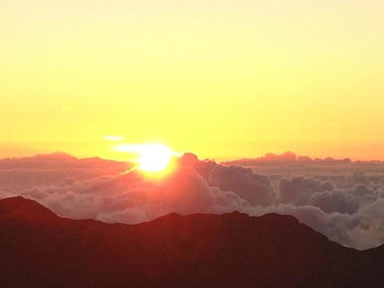 Paia, HI: Sunrise on Haleakala
