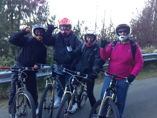 Paia, HI: Ready to bike down the mountain