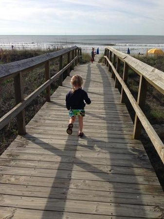 The Palms Oceanfront Hotel: being footsteps from the ocean with toddlers...priceless