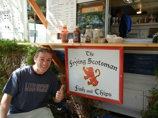 The Frying Scotsman: First bite to eat after landing in Portland- terrific lunch!