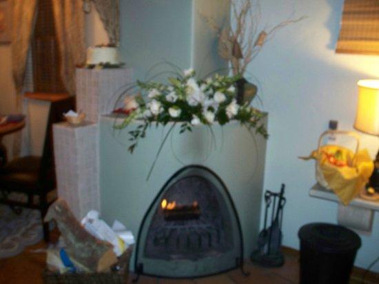 كازا دي تريس لوناس: elegant in-room fire place