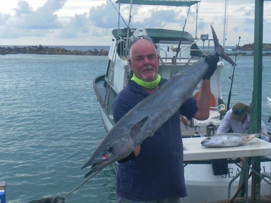 Peter with wahoo picture of seafari fishing for Delaware fishing charters