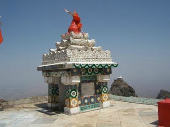 Dattatreya Temple: CLOSE UP OF DATTAREYA TEMPLE GIRNAR HILLS JUNAGADH GUJARAT