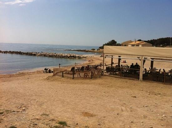 Carry-le-Rouet, France: la plage face au camping