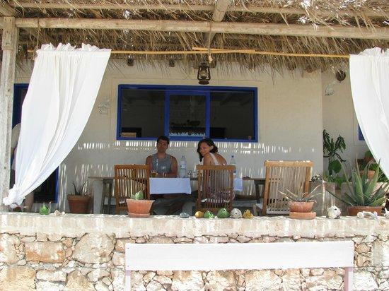 Hotel Spinguera Ecolodge : angolo della sala da pranzo esterna