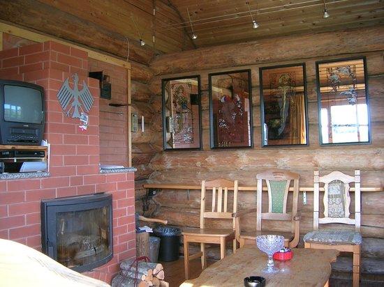 Iigaste, Estland: Sauna: fireplace