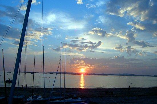 Rhosneigr Beach : Sunset from Town Beach, Rhosneigr