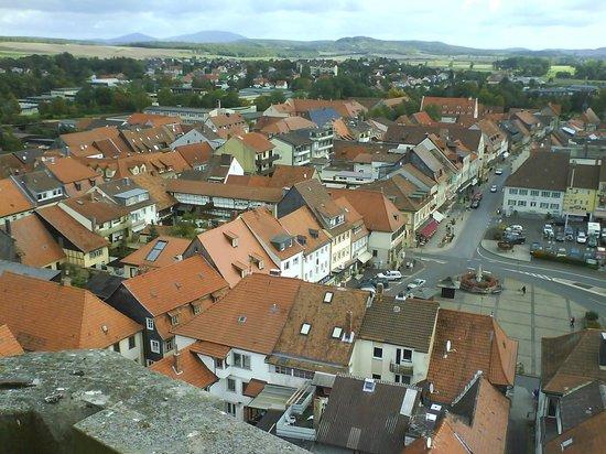 Hotel Schlundhaus: Blick vom Kirchturm auf Schlundhaus und Marktplatz