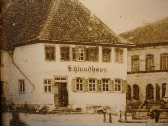 Hotel Schlundhaus: Fassade 1880 - ältestes Foto