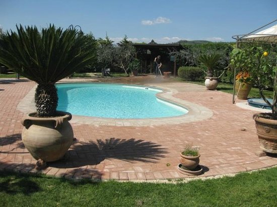 County House Il Roseto: pool area with open jacuzzi