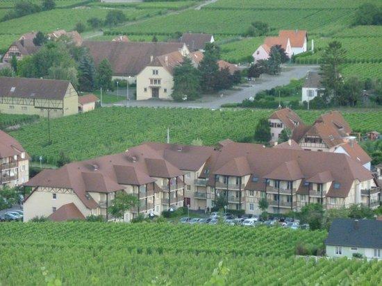 Bergheim, France : la résidence vue des vignes