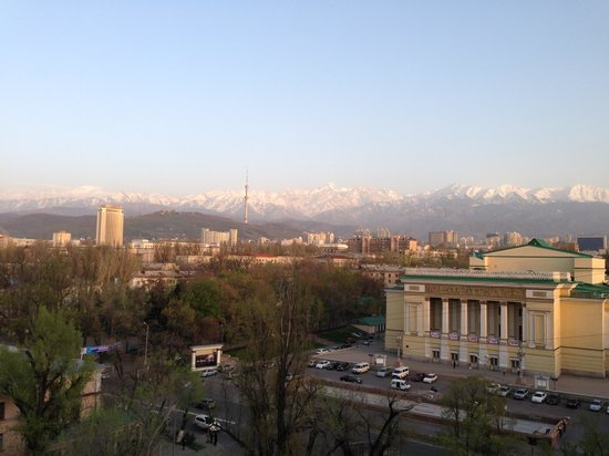 Hotel Almaty: Views from room in 8th floor
