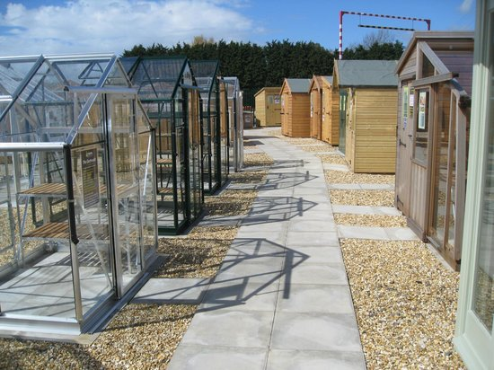 Greenhouses and sheds picture of haskins garden centre for Garden shed tripadvisor
