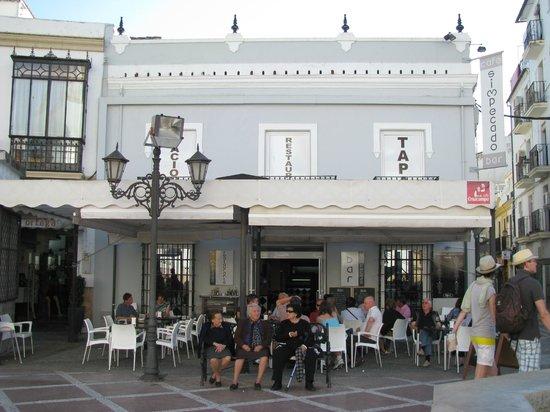 Simpecado Bar: Terraza del restaurante