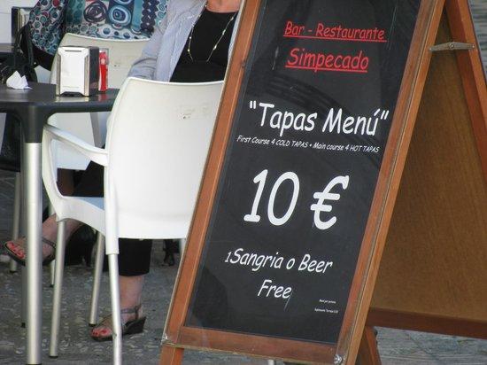 Simpecado Bar: Promoción de su menú de tapas