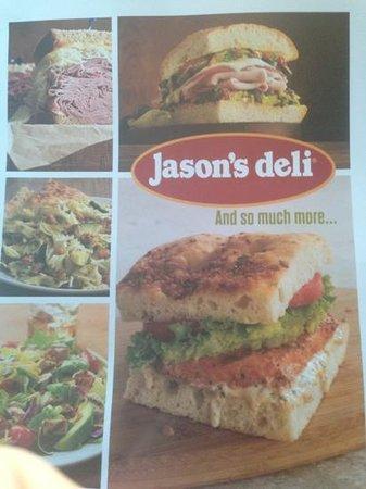 Jason's Deli: the menu