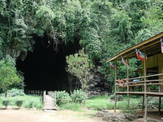 Gomantong Cave Sandakan: entrance