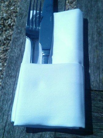 Pelham House Restaurant: Proper cutlery
