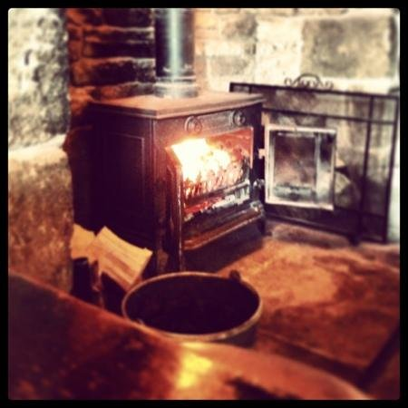 The Fox & Goose Inn: fireplace