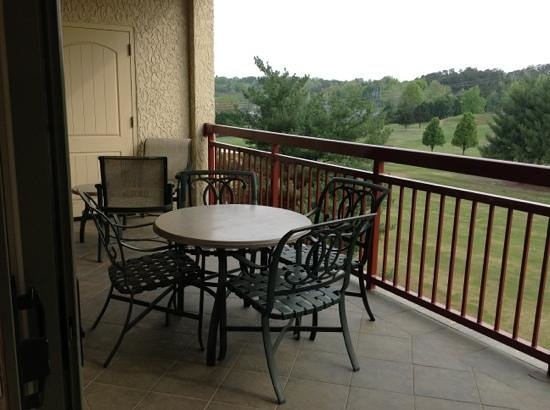 RiverStone Resort & Spa: balcony and golf course