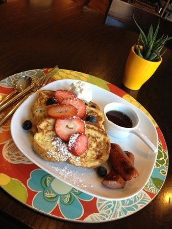 INN at 2920: French toast with local H&S bread after a yogurt parfait with fruit and granola and a muffin