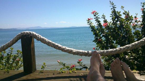 Canasvieiras Praia Hotel: Vista do deck da piscina