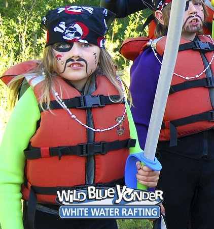 Wild Blue Yonder White Water Rafting: The unique River Pirates Trip - Theatre on the water for kids3 and up.