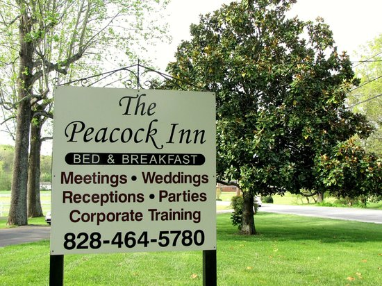 The Peacock Inn: Sign