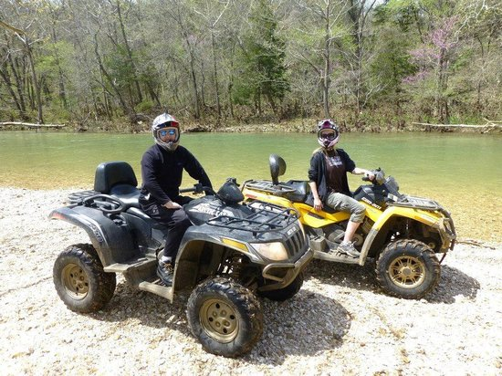 Triple-G ATV Rides: Angie and RJ with our bods on quads