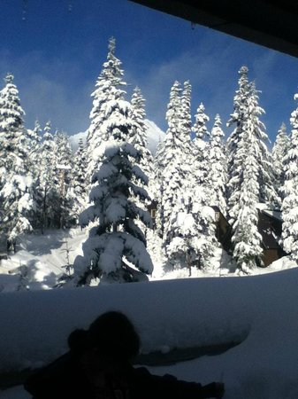 The Lodge at Government Camp: Plenty of snow on the snowshoe hike up Mt. Hood