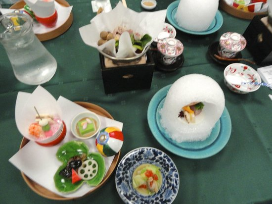 Gora Asahi Hotel: Some of the dinners entrees